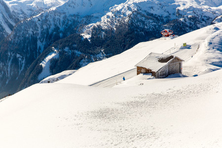 Ski resort Bad Gastein in winter snowy mountains, Austria, Land Salzburg,  Austrian alps - nature and sport background photo