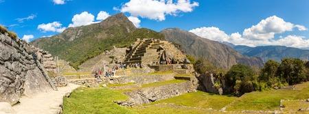 incan: Citt� misteriosa - Machu Picchu, Per�, Sud America Le rovine inca Esempio di muratura poligonale e di abilit� Archivio Fotografico