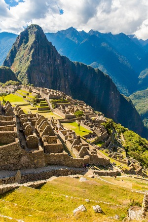 Mysterious city - Machu Picchu, Peru,South America. The Incan ruins. Example of polygonal masonry and skill