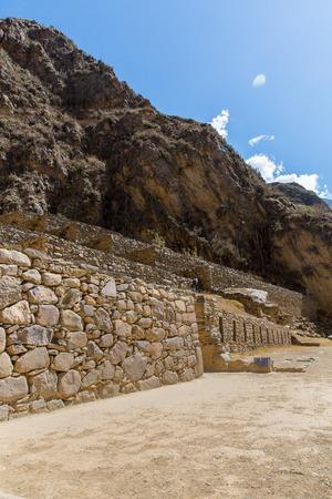 incan: Mysterious city - Machu Picchu, Peru,South America  The Incan ruins  Example of polygonal masonry and skill