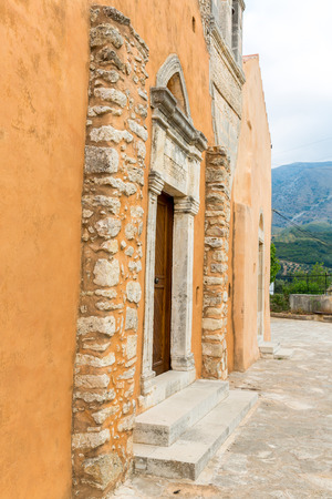 Church in small cretan village Kavros in Crete  island, Greece. Travel Background photo
