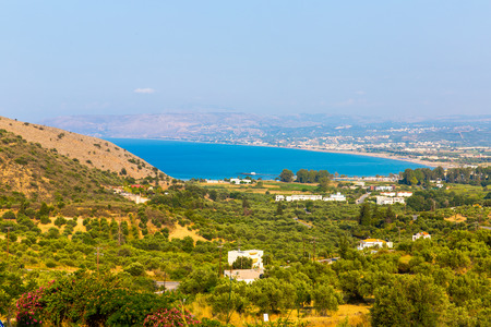 Small cretan village Kavros in Crete  island, Greece. Travel Background photo