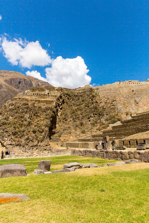 conquered: Peru, Ollantaytambo-Inca ruins of Sacred Valley in Andes mountains,South America  It was royal estate of Emperor who conquered during Inca Empire