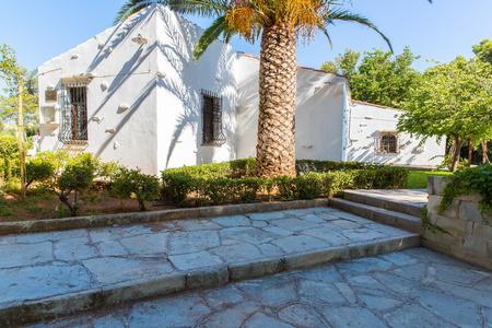 Old monastery Arkadi in Greece, Chania, Crete. Greek travel Stock Photo - 29024039