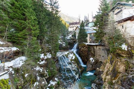 Waterfall in Ski resort town Bad Gastein, Austria, Land Salzburg photo
