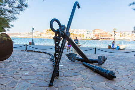 armature: Armature and anchor Greece, Chania, Crete Traditional pictorial street - vintage artistic series