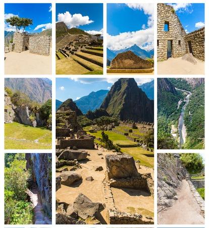 incan: Misteriosa citt� - Machu Picchu, Per�, Sud America. Le rovine Inca. Esempio di muratura poligonale e abilit�