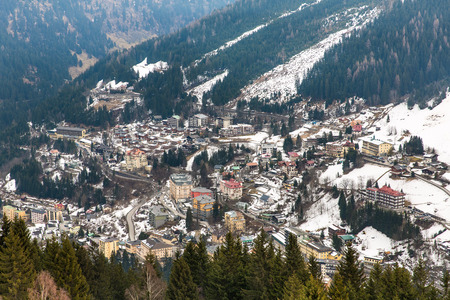 Ski resort town Bad Gastein in winter snowy mountains, Austria, Land Salzburg,  Austrian alps - nature and sport background photo