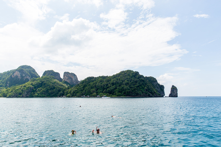 phi: Snorkeling on the Koh Phi Phi island, Thailand