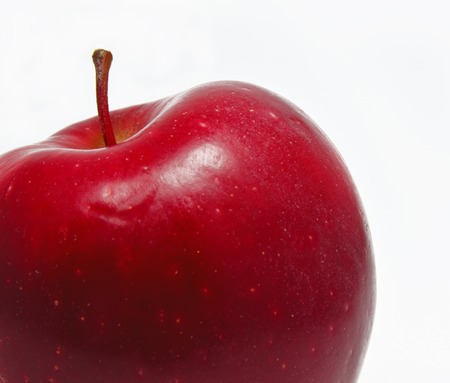 hmo: fresh red apple isolated on white no HMO Stock Photo