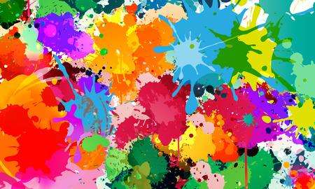 Colorful Splash Background Zdjęcie Seryjne