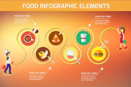 Food Info graphic element Stok Fotoğraf - 44562756