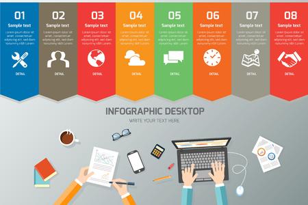Desktop Vector Infographic