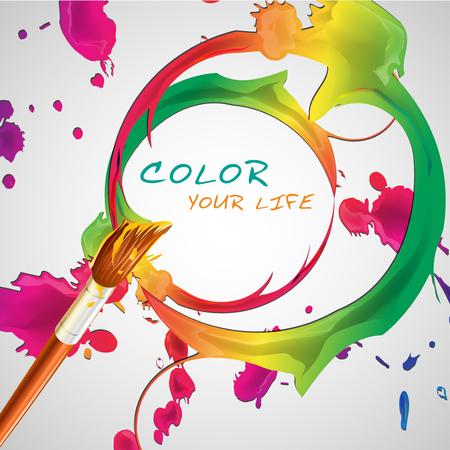 illustraton: colorful paint vector illustraton Illustration