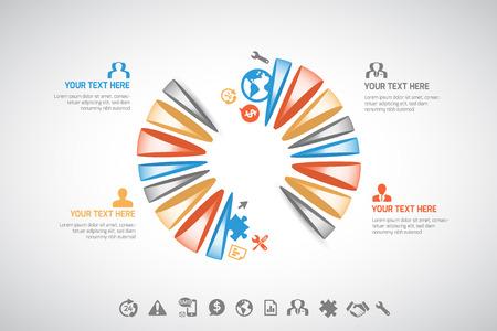 illustation: Abstract infographic - vector illustation Illustration