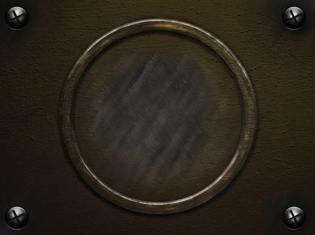 old grunge metal round texture