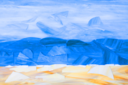 coastal: abstract depiction of a coastal landscape of focus
