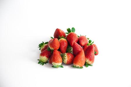 Stil: stil life of organic strawberries grouped Stock Photo