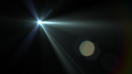 Beautiful light flares. Glowing streaks on dark background. luminous background