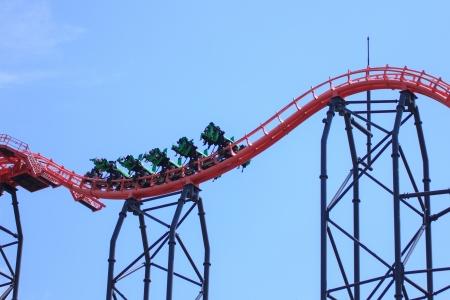 Roller coaster in Fuji Q Highland Japan