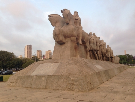 nicknamed: It is So Paulos best known sculpture nicknamed Let me push Stock Photo