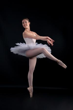 Ballet with white Stock Photo - 9959355