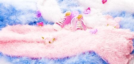 revestimientos: en revestimientos peludos multicolores son las flores y Zapatos de Beb�