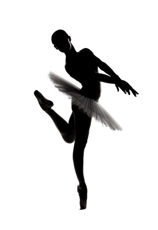 beautiful shadow silhouette of graceful  ballerina dancing Stock Photo - 12154268
