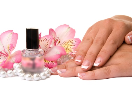 nail care for women's hands, isolated on white background Stock Photo - 17784671
