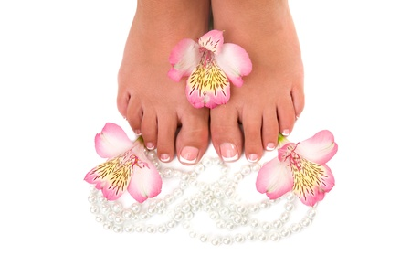 nail care for women's feet, on white background Stock Photo - 17784677