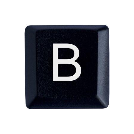 La lettre B d'un clavier noir