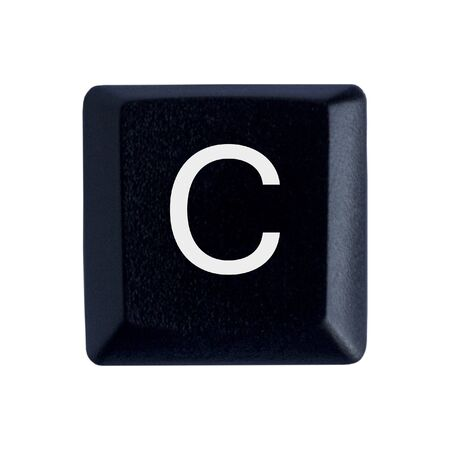 The Letter C From a Black Keyboard