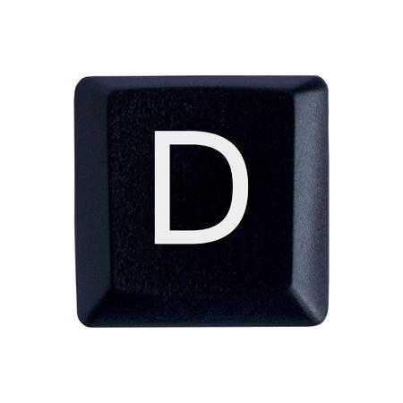 La lettre D d'un clavier noir