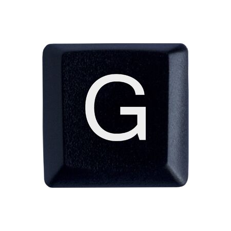 The Letter G From a Black Keyboard