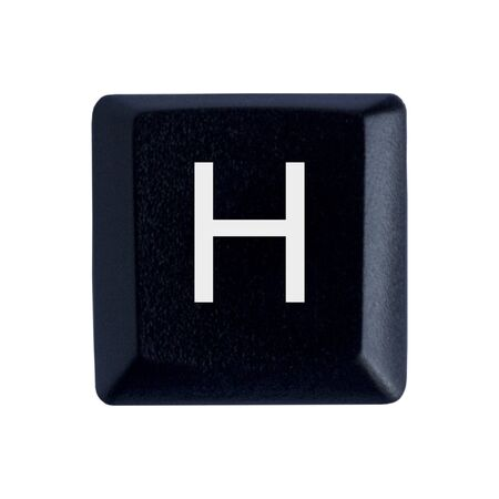The Letter H From a Black Keyboard
