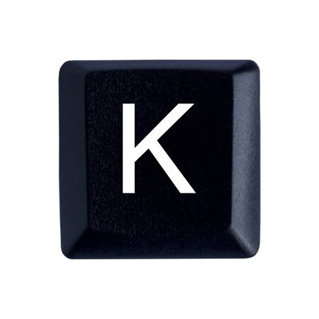 The Letter K From a Black Keyboard
