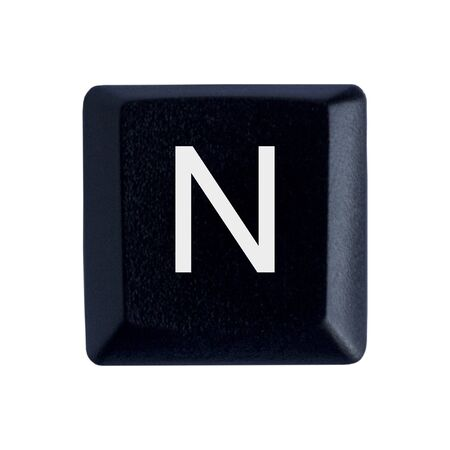 The Letter N From a Black Keyboard Stockfoto