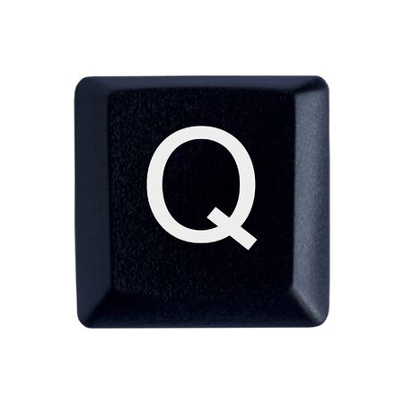 The Letter Q From a Black Keyboard