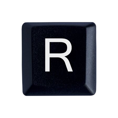 The Letter R From a Black Keyboard