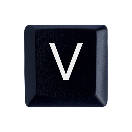 The Letter V From a Black Keyboard