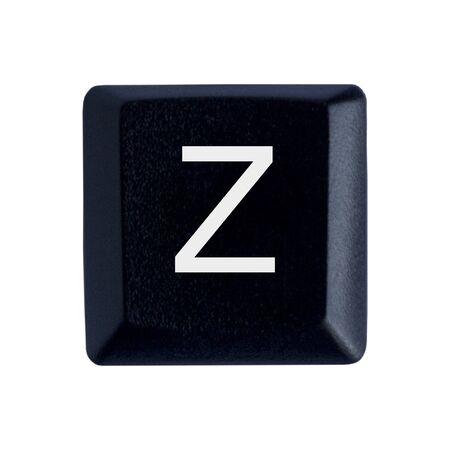 The Letter Z From a Black Keyboard Stockfoto