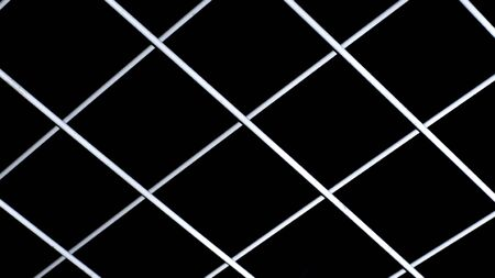 White grid background on black Foto de archivo