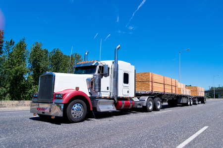 freight traffic: Attractive tuned semi truck classical style