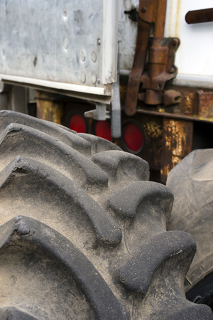 The tires, rims or other parts of big rig semi trucks are given great importance since trucks are the main means of transporting goods. But all parts or engine becomes in time unfit for use 写真素材