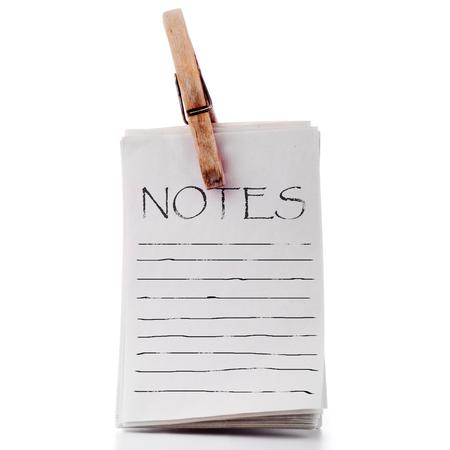 pinned: Pinned notepad vintage