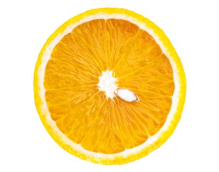 sliced orange: Sliced orange isolated