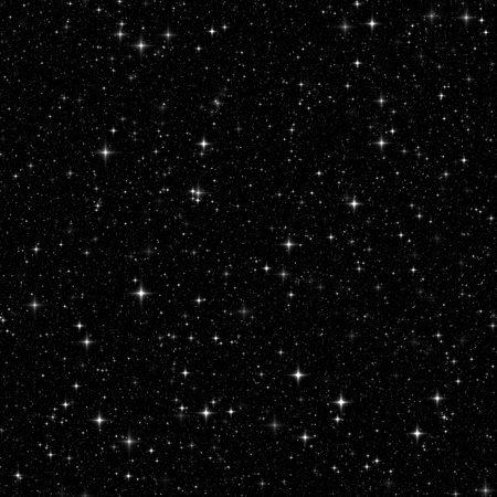 espaço preto com muitas estrelas. Seamless, textura, fundo Banco de Imagens