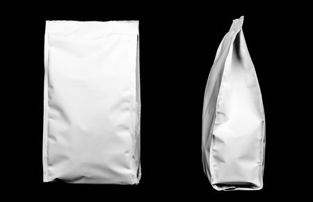 블랙에 고립 된 플라스틱 패키지 스톡 콘텐츠