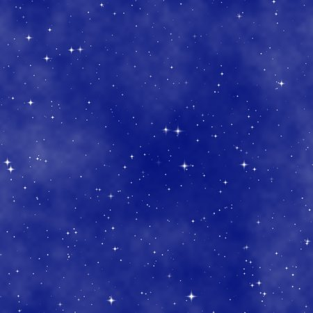 Sparkle stars on blue sky background