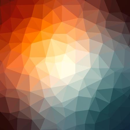 낮은 폴리 투명 한 다채로운 방사형 패턴 배경